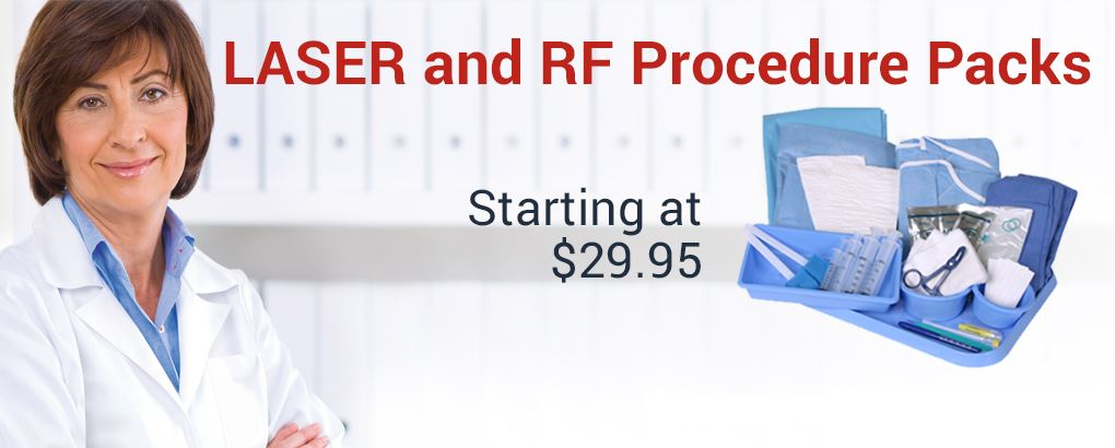 Laser and RF Procedure Packs starting at $29.95